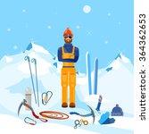 climber winter holidays... | Shutterstock .eps vector #364362653
