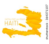 haiti map geometric background... | Shutterstock .eps vector #364371107