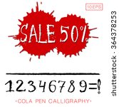 vector numbers and word sale... | Shutterstock .eps vector #364378253