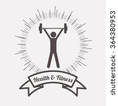 health and fitness design  | Shutterstock .eps vector #364380953