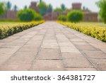 pathway formed slabs stone... | Shutterstock . vector #364381727