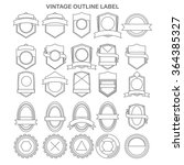 outline vintage label collection | Shutterstock .eps vector #364385327