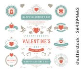 valentine's day labels and... | Shutterstock .eps vector #364394663