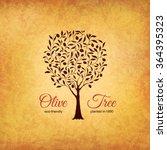olive label  logo design. olive ... | Shutterstock .eps vector #364395323