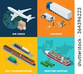 global logistics network. flat... | Shutterstock .eps vector #364396223
