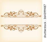 vector vintage floral ... | Shutterstock .eps vector #364399487