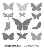 butterflies graphic silhouettes | Shutterstock .eps vector #364407743