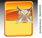 crossed swords and shield on... | Shutterstock .eps vector #36441031
