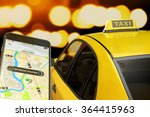 calling taxi from mobile phone... | Shutterstock . vector #364415963
