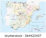 spain road map | Shutterstock .eps vector #364422437
