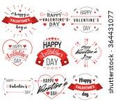 valentines day vintage label set | Shutterstock .eps vector #364431077