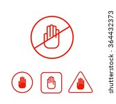 set of stop hand icons... | Shutterstock .eps vector #364432373