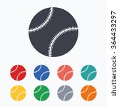 baseball ball sign icon. sport... | Shutterstock .eps vector #364433297