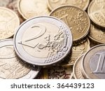 Euro Coins Over The Old World...