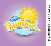 beautiful summer illustrations .... | Shutterstock .eps vector #364451633