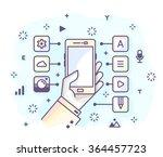 vector illustration in modern... | Shutterstock .eps vector #364457723