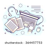 color vector illustration of a... | Shutterstock .eps vector #364457753