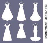 wedding dresses set. white... | Shutterstock .eps vector #364464443