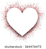 valentine's love 3d card with... | Shutterstock .eps vector #364476473