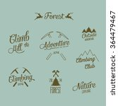set of mountain adventure and... | Shutterstock .eps vector #364479467