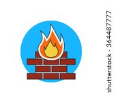 firewall protection icon | Shutterstock .eps vector #364487777