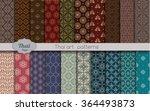 vector damask pattern... | Shutterstock .eps vector #364493873