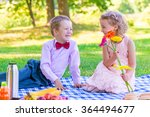 a pair of lovers of children at ... | Shutterstock . vector #364494677