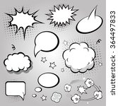 comic speech bubbles.  black... | Shutterstock . vector #364497833