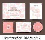 set of wedding cards ... | Shutterstock .eps vector #364502747