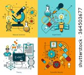 science concept line icons set... | Shutterstock .eps vector #364503677