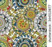 seamless doodle flower... | Shutterstock .eps vector #364513877