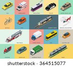 flat 3d isometric city... | Shutterstock .eps vector #364515077