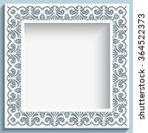 Square Vector Frame With Paper...