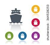 ship icon | Shutterstock .eps vector #364528253