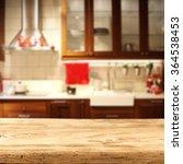 retro wooden shelf and kitchen... | Shutterstock . vector #364538453