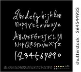 hand drawn alphabet   number  ... | Shutterstock .eps vector #364544933
