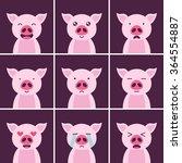 animal flat design  emotion ... | Shutterstock .eps vector #364554887