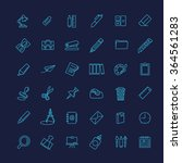 outline web icon set   office... | Shutterstock .eps vector #364561283