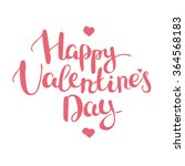 hand drawn lettering. valentine'... | Shutterstock .eps vector #364568183