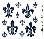 french royal fleur de lis dark... | Shutterstock .eps vector #364569167