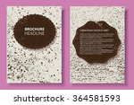 grunge brochure design.flyer... | Shutterstock .eps vector #364581593