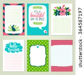 vector set of printable... | Shutterstock .eps vector #364587197