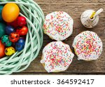 traditional  easter cake with... | Shutterstock . vector #364592417