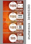 set of modern gift voucher... | Shutterstock .eps vector #364603283