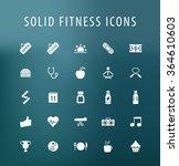 set of 25 universal fitness... | Shutterstock .eps vector #364610603