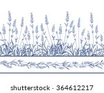 the lavender seamless frame... | Shutterstock .eps vector #364612217