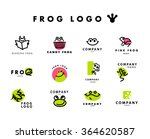 vector simple flat logo with... | Shutterstock .eps vector #364620587