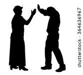 vector silhouette of people who ... | Shutterstock .eps vector #364636967