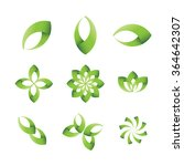ecology leaves and symbols  | Shutterstock .eps vector #364642307