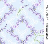 Seamless Pattern Of Lavender...